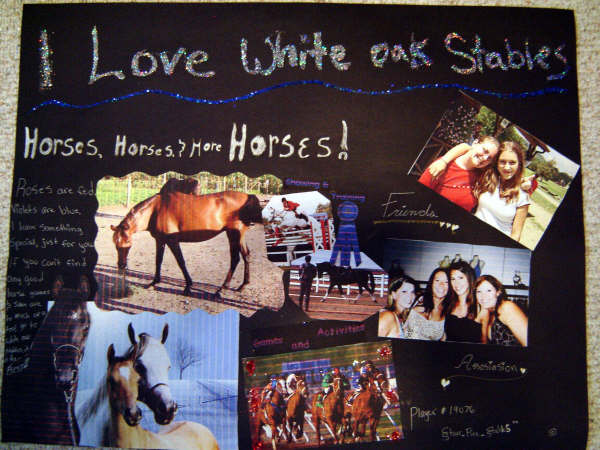 I Love White Oak Stables Poster